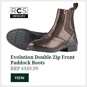 Evolution Double Zip Front Paddock Boots