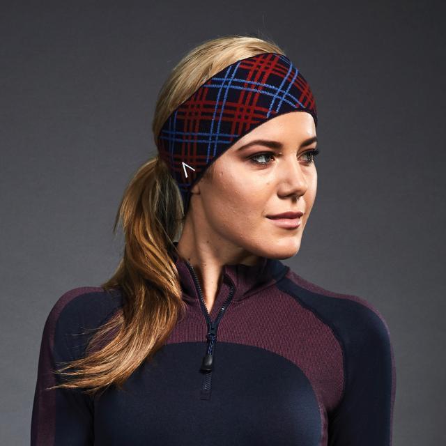 Dublin Black Sue Headband True Navy/Scarlet/Coast
