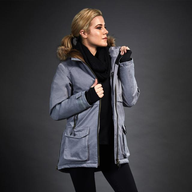 Dublin Black Wendy Technical Waterproof Mid Line Jacket Charcoal