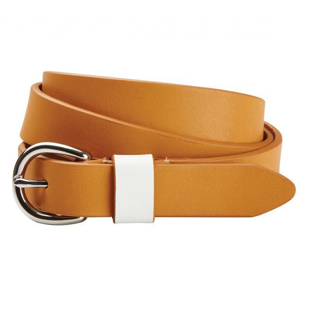 Dublin Leather Belt Tan with Cream Loop