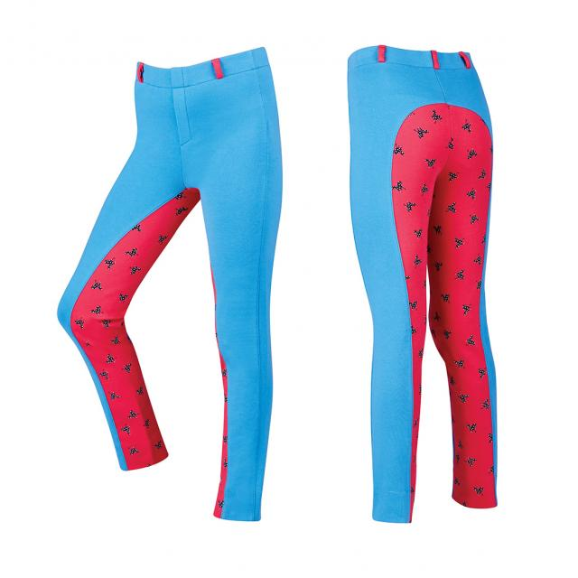 Dublin Millie Gel Full Seat Printed Pull On Jodhpurs Marina