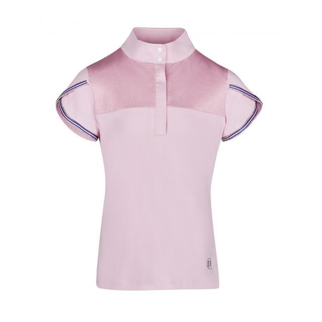 Dublin Olivia Short Sleeve Diamante Trim Show/Competition Shirt Blush