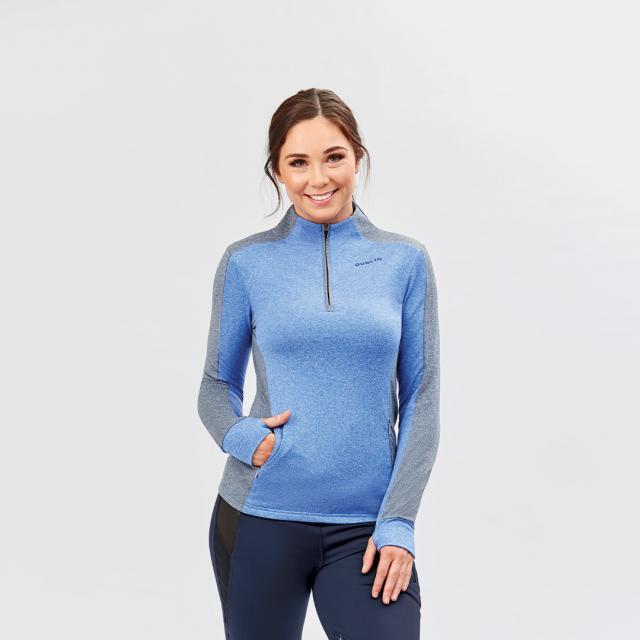 Dublin Rachel Half Zip Thermal Top Dazzling Blue