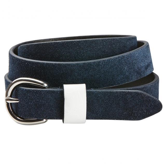 Dublin Suede Leather Belt Navy