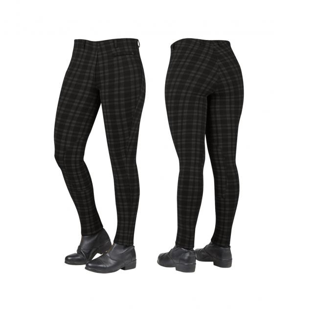 Dublin Supa-Fit Pull On Jodhpurs Black Check