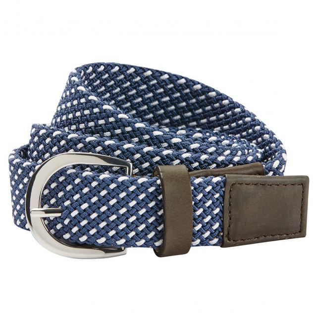 Dublin Webbing Belt Navy/White