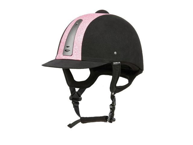 Dublin Silverline Fizz Helmet Black/Pink