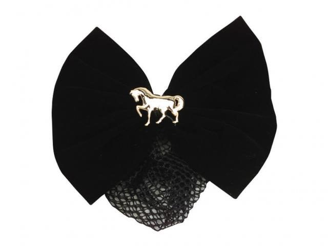 Dublin Hair Net With Bow Black