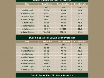 Safety Size Chart