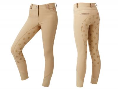 Dublin Kelly Gel Full Seat Competition Breeches Beige with Rose Gold