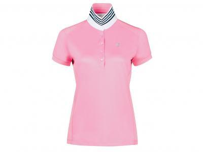 Dublin Imogen Technical Short Sleeve Polo Pink Bloom