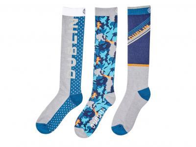 Dublin Rosemary 3 Pack Socks Multi Charcoal