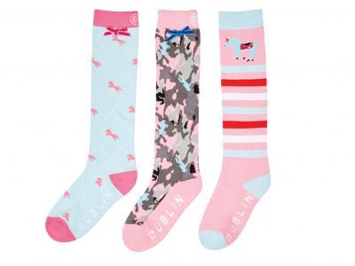 Dublin Marilyn 3 Pack Socks Multi Pink