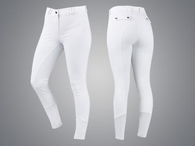 Dublin Black Emma Technical Premium Sculpt Full Grip Breeches White