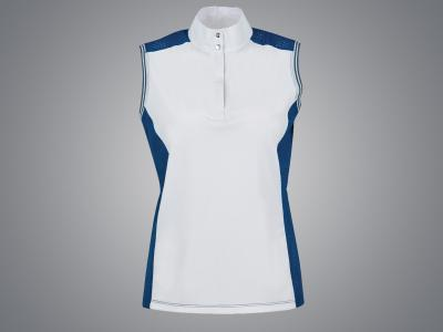 Dublin Black Georgia Concealed Zip Sleeveless Competition Shirt Majolica Blue