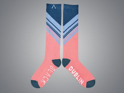 Dublin Black Ria Technical Socks Fruit Dove