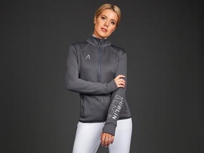 Dublin Black Tracy Premium Technical Bonded Fleece Jacket Asphalt