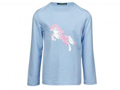 Dublin Quinnie Pony Reversible Sequins Tee Serenity