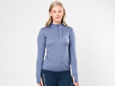 Dublin Nicola Half Zip Premium Thermal Mid Layer Top Blue Indigo