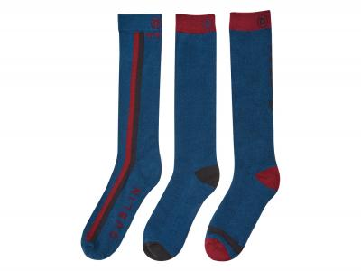 Dublin 3 Pack Colour Block Socks Ink Navy
