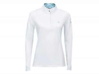 Dublin Andy Long Sleeve Competition Printed Inner Collar Shirt White/Lichen Green