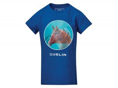Dublin Tilly Hologram Horse Tee Federal Blue
