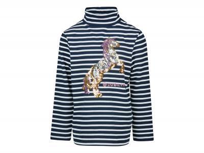 Dublin Blythe Horsey Sequin Tee Ink Navy Stripes