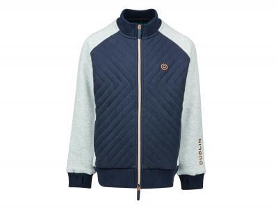 Dublin Grace Full Zip Soft Fleece Quilted Jacket Ink Navy