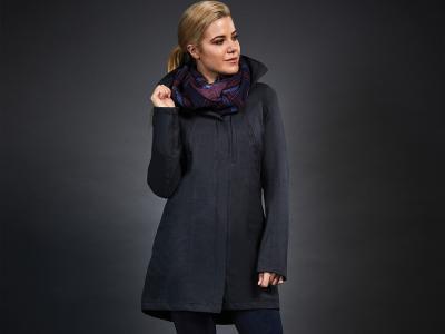 Dublin Black Ellie Technical Waterproof Jacket Navy/Grey