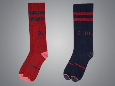 Dublin Black Maria Technical Socks Scarlet & Blue