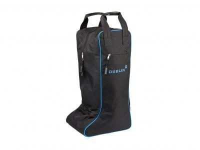 Dublin Imperial Tall Boot Bag Black/Blue