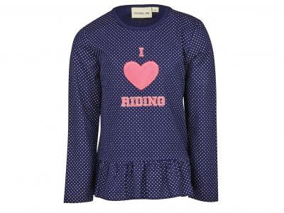 Dublin Ingrid Heart Long Sleeve Top True Navy