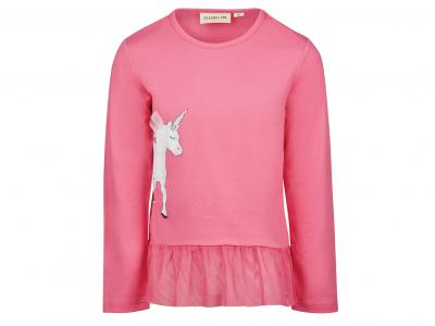Dublin Ingrid Unicorn Long Sleeve Top Flamingo