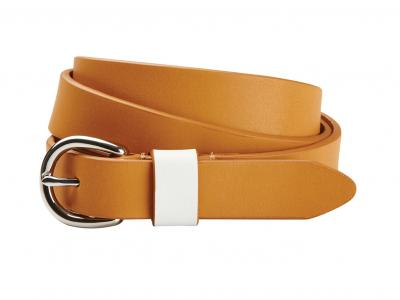 Dublin Leather Belt Tan with Cream Loop