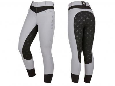 Dublin Lena Spliced Full Seat Breeches Ash/Black