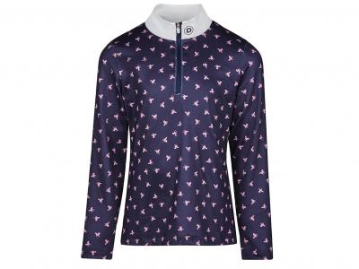 Dublin Lola Half Zip Printed Show/Competition Shirt True Navy