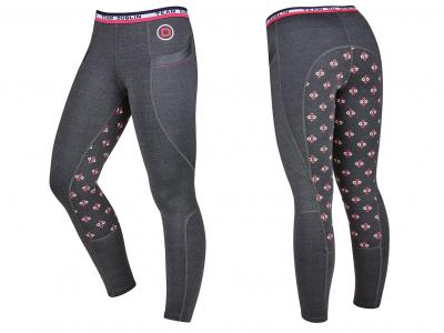 Dublin Maggie Gel Full Seat Performance Tights Charcoal