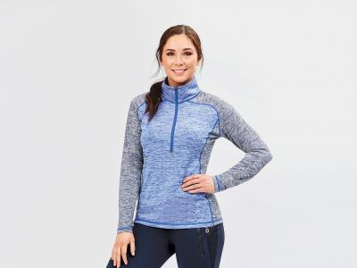 Dublin Miranda Half Zip Raglan Tech Training Top Marina/Navy