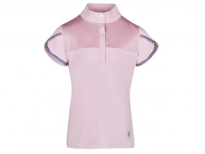 Dublin Olivia Short Sleeve Diamante Trim Show/Competition Shirt Blush