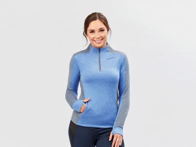 Dublin Rachel Half Zip Thermal Top Dazzling Blue