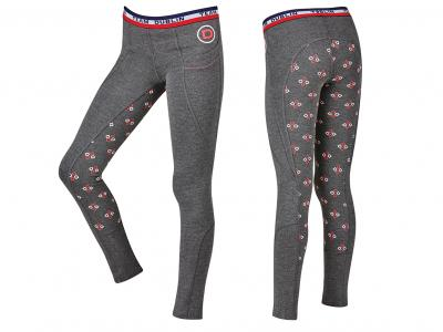 Dublin Sonia Gel Full Seat Performance Active Tights Charcoal
