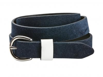 Dublin Suede Leather Belt Navy