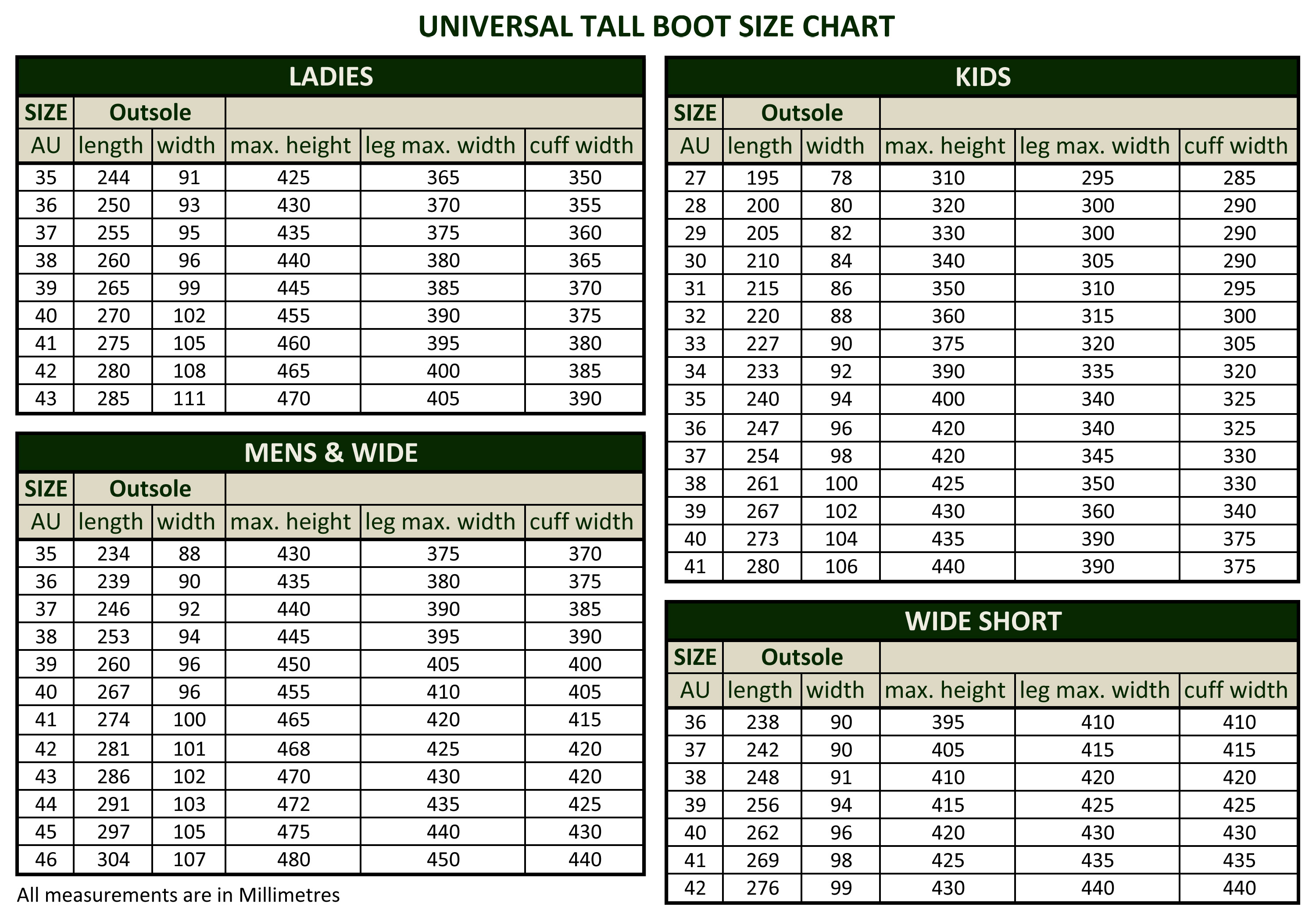 united states new york website for discount Size Charts | Dublin Clothing - New Zealand